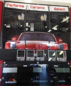 Vehicle Window Tint display