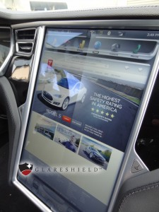 Glareshield tesla screen protection